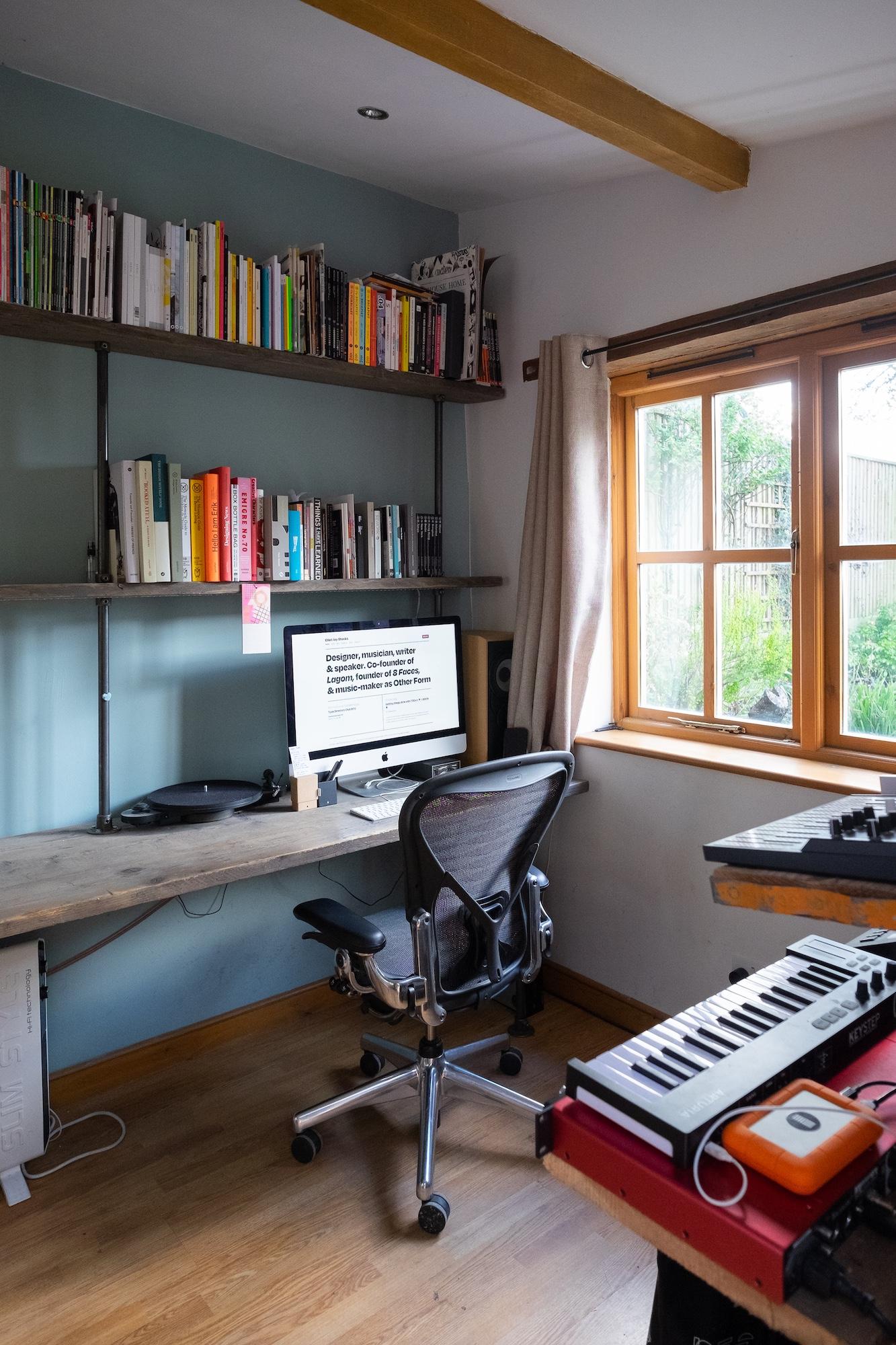 Photograph of Elliot's home studio