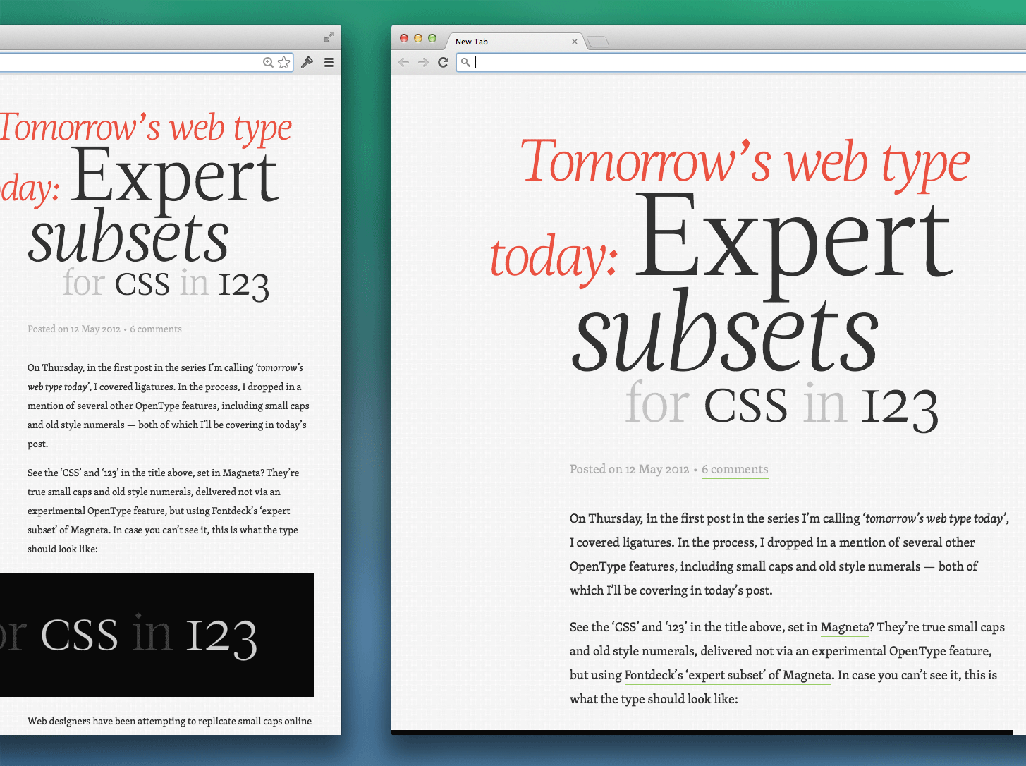 Article illustration for Advanced web typography: Responsive web typography